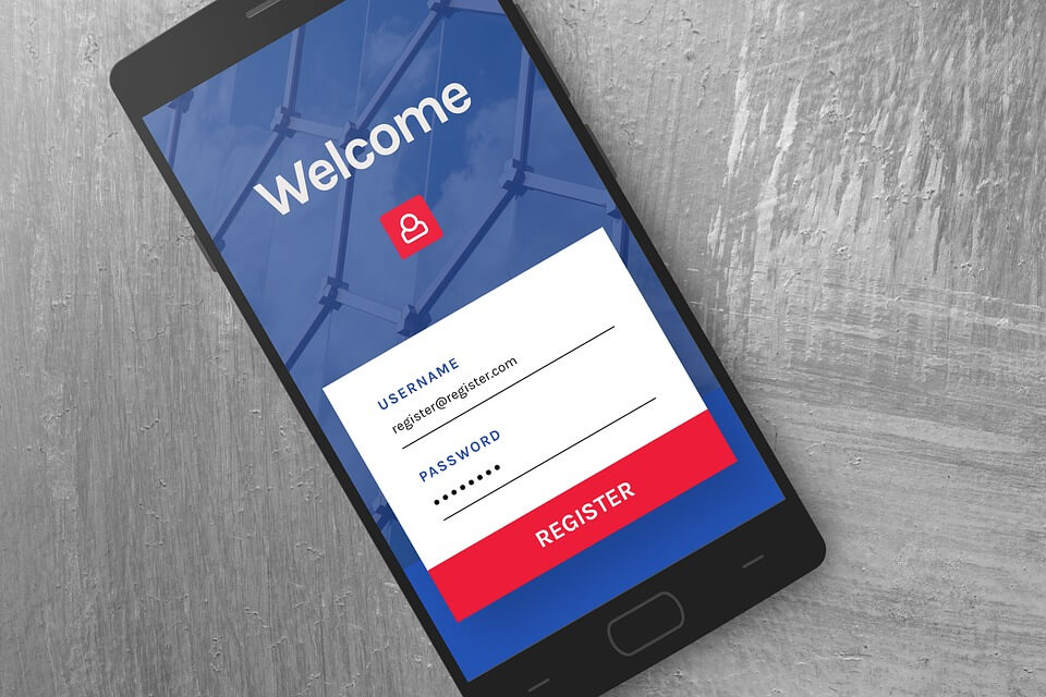 signup form mobile application development singapore